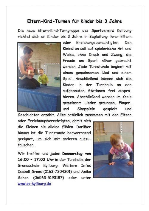 Neue Eltern-Kind-Gruppe im SVK