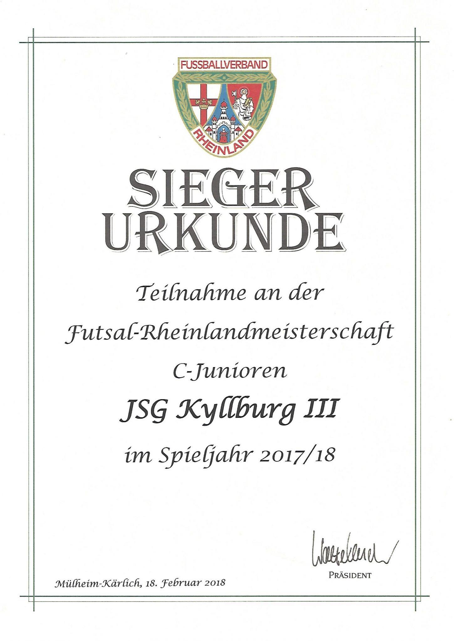C-Jugend: Rheinlandmeisterschaft – teuer verkauft !