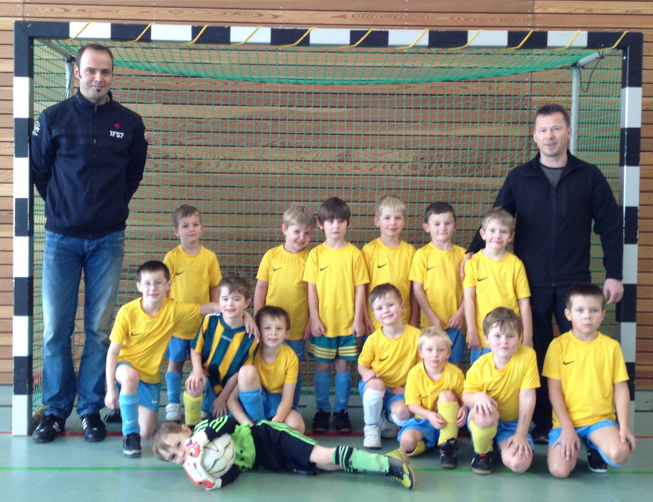 1. Platz für unsere Bambinis beim Hallenturnier des FC Bitburg