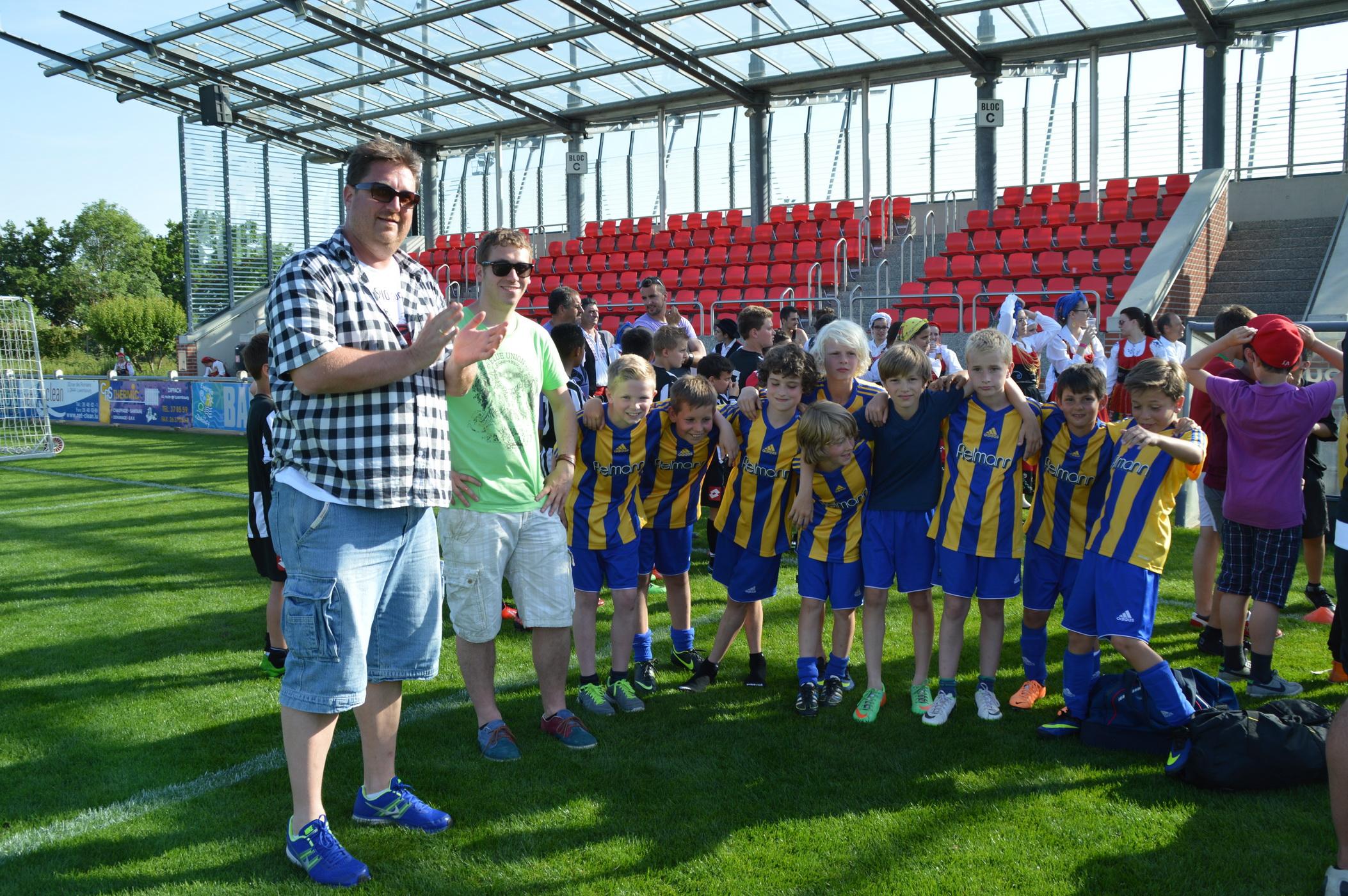 E1 gemeinsam mit Benfica Lissabon und dem FC Metz in Hesperange