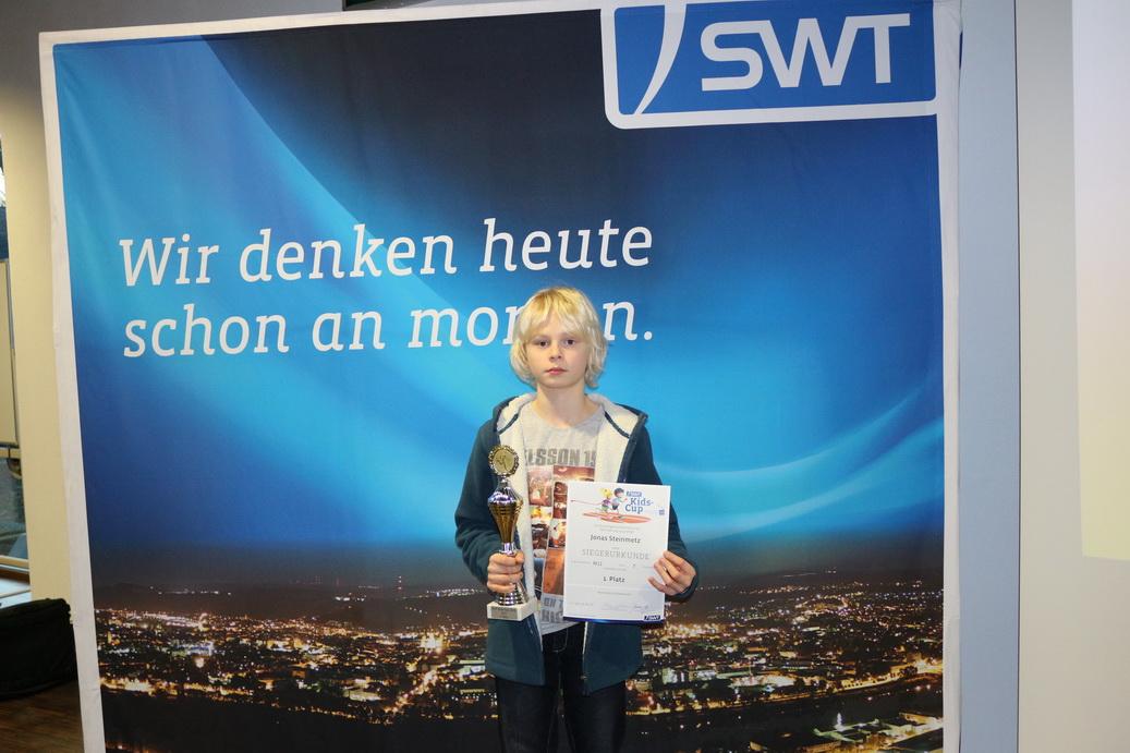 Jonas Steinmetz gewinnt den SWT-Kids-Cup 2014