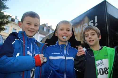 Jugendspieler beim Silvesterlauf in Trier