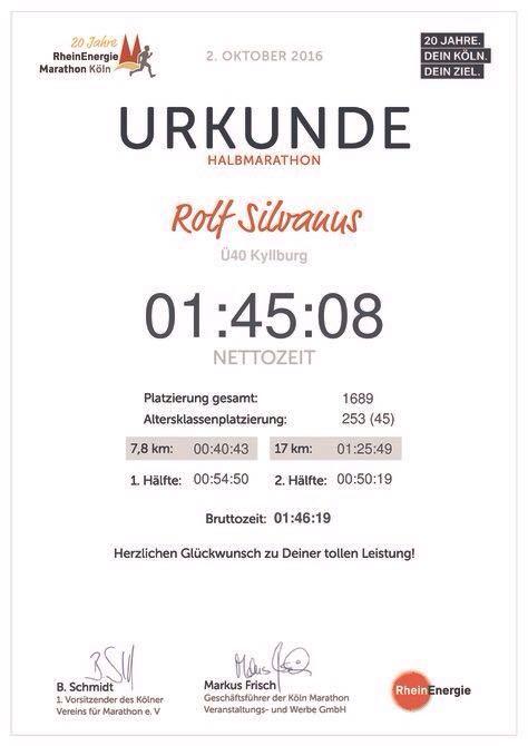 Rolf Silvanus vertritt SVK beim Kölner Halbmarathon