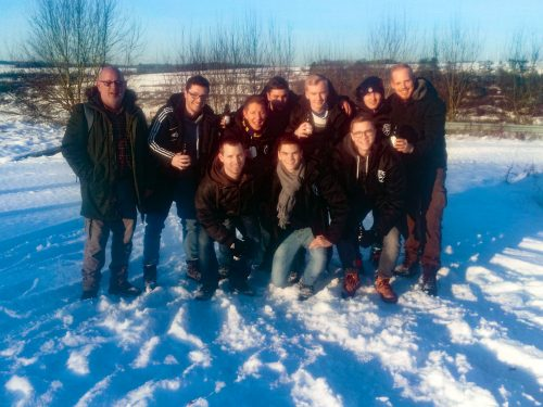 2. Mannschaft genießt Schneewandertag