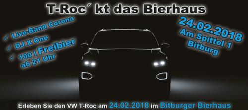 T-Roc´kt das Bierhaus am 24.02.2018 in Bitburg