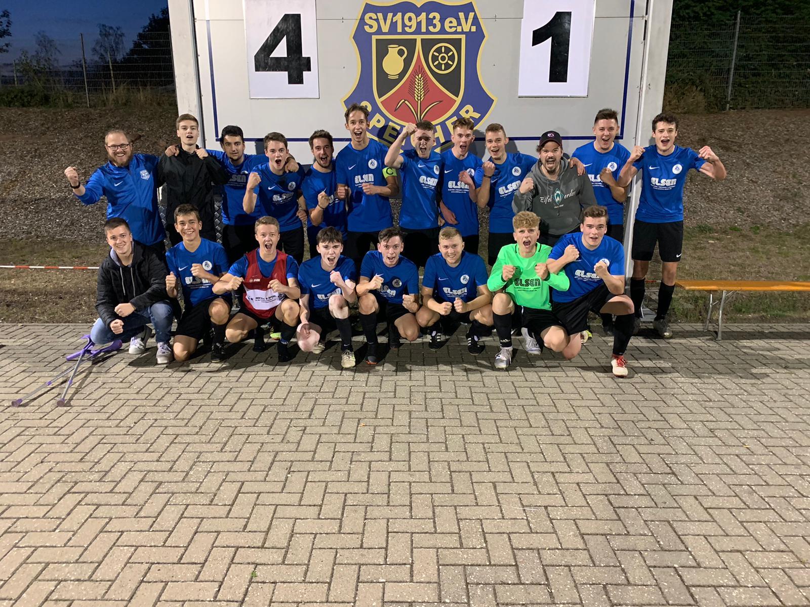 A-Jugend: Neue Bezirksliga 1. Saisonspiel – 1. Sieg